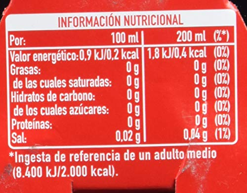 Coca - Cola Zero Refresco - Pack de 6 x 200 ml - Total: 1200 ml