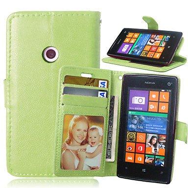 HL CASES And COVERS Schöne Fälle, Abdeckungen, Luxus-PU-Leder Karteninhaber Geldbörse Stehen Klappdeckel mit Fotorahmen Fall für Nokia Lumia 520 (Farbe : Grün, Kompatible Modellen : Lumia 830) - Geldbörse Lumia 830 Nokia Fall