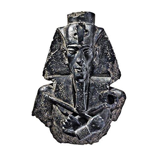 Design Toscano Ägyptischer Pharao Echnaton, Wandfigur