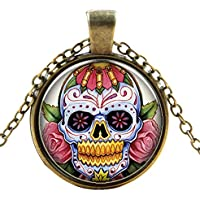 Ultra ® Skull with roses Classic unisexe steampunk collier grand style unisexe gothique cosplay Vintage Cyber hommes femmes bijoux cosplay crânes rouages designs