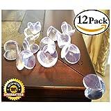 EliteBaby chiara tabella di paraspigoli, cuscini imbottiti 12-Pack e guardie con 3m adesivo trasparente