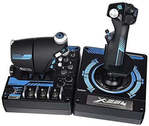 Saitek Pro Flight X-56 Système H.O.T.A.S. avancé de vol spatial Joystick pour PC Noir