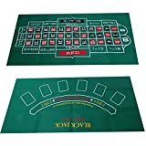 circulor Roulette Filz Poker Matte Pokerauflage Doppelseitige Muster-Spieltischdecke, Vliestischdecke, Blackjack- Und Roulettetischdecke 60X120cm