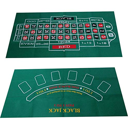 prom-near Poker Tischauflage Doppelseitiges Muster Spieltisch Filz Vliestuch Wasserdicht Tischset Blackjack Roulette Tischdecke