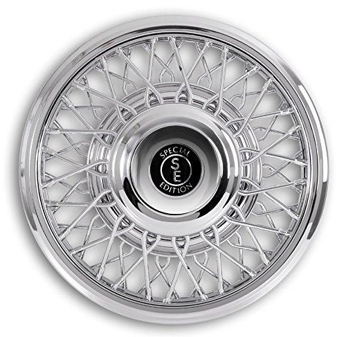 Hansen Styling Parts - Copricerchi cromati 15 pollici per autovetture. auto d'epoca, youngtimer (in plastica)