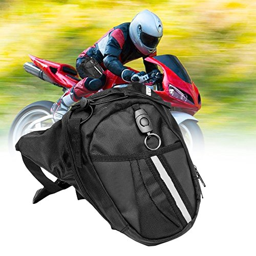 Gugutogo Bolsa multifuncional de nailon impermeable para motocicleta (color negro)