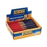 Alyco 149055–Profi-Holzbleistifte für Bau, mit 2Farben Blau-Rot, 175mm