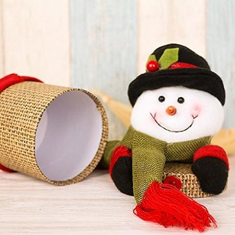 QHGstore Weihnachtsgeschenk Kästen Süßigkeit Kasten Christma Dekoration Treat Taschen Festliche Container (Süßigkeiten, Christbaumschmuck)