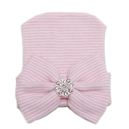 Affe d'hiver pour bébé nouveau-né Cute Girl bébé avec bonnet chapeau mignon confortable Rose