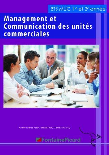 Management et communication des unités commerciales BTS MUC