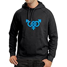 N4082H sudadera con capucha Two male and one female symbols gift