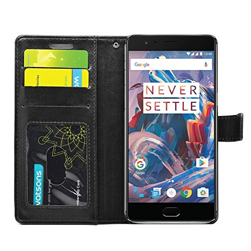be8e1864c11 FOSO(TM) One Plus Three High Quality PU Leather Magnetic Flip Cover Wallet  Case