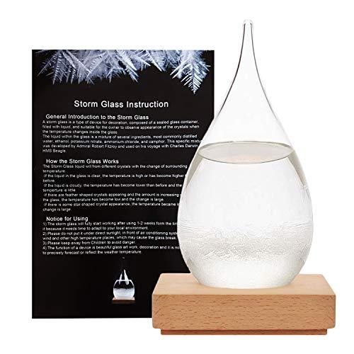 HKPOH Kreative Stilvolle Desktop Tröpfchen Sturm Glas Handwerk Wetter Sturm Vorhersage Predictor Flasche Barometer (groß)