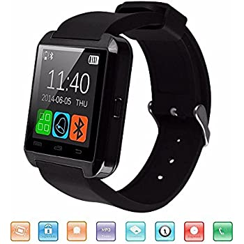 Bluetooth Reloj Inteligente, KeepGoo U8 Smartwatch para Android iOS Soporte Salud Podómetro Sleep Monitor Llamada/SMS/SNS Alerta Reloj de Pulsera con ...