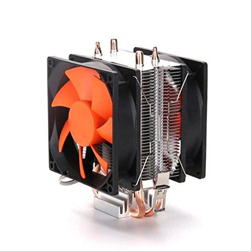 JHKJ Dual-Lüfter-CPU Luftgekühlten Kühler/Dual Heatpipe/Starke Kühlung/Multi-Plattform AMD Intel -