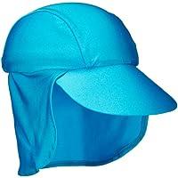 Zunblock Suncap - Gorra con protector solar para niños, color turquesa, talla M (2-5 años)