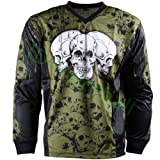IDP Jersey The Skulls Oliv Paintball Trikot Grösse M