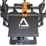 Support d'accroche BuildGrip par DAGOMA   Support adhésif, 20x20cm, compatible filament PLA, compatible Discoeasy200 - Accessoire indispensable - Gris & Blanc