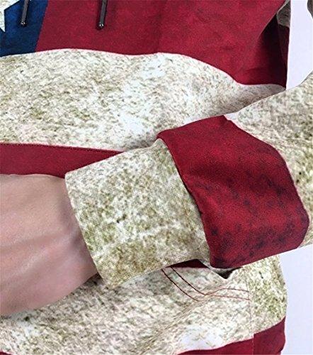 Pizoff Unisex Hip Hop Sweatshirts druck Kapuzenpullover mit Bunt 3D Digital Print Y1760-12