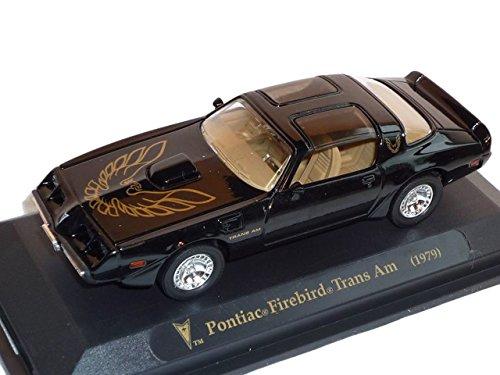 Trans Modellauto Am (Pontiac Firebird Trans Am 1979 Coupe Schwarz Vogel Motorhaube Oldtimer 1/43 Yatming Modellauto Modell Auto)