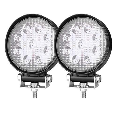 LE 2er Pack Zusatzscheiwerfer 27W, LED Arbeitsscheinwerfer LED 12V rund, Auto Scheinwerfer mit 9 LEDs