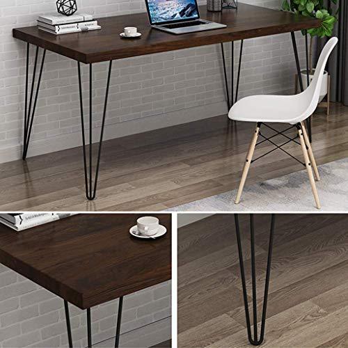 ZLHY Eisen Tischbeine, Einfache AusfüHrung 2, Verschiedene GrößEn, Winkelstabiles Design, Schwarz (Nur Tischbeine ErhäLtlich)