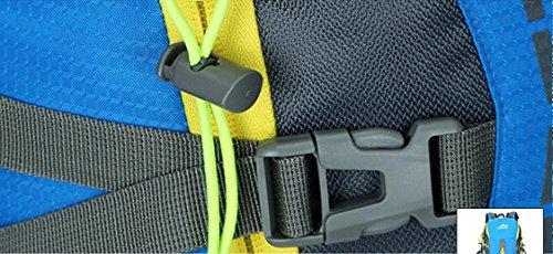 LQABW Moda Sport 45L Litro Professionale Alpinismo Impermeabile E Traspirante Spalla Esterno Degli Uomini Borsa E Zaino Donne,Orange Blue