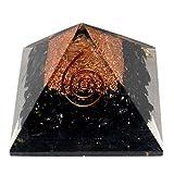 #9: Black Tourmaline Orgone / Orgonite Pyramid 40-45 mm for Reiki Healing and Meditation, Protection