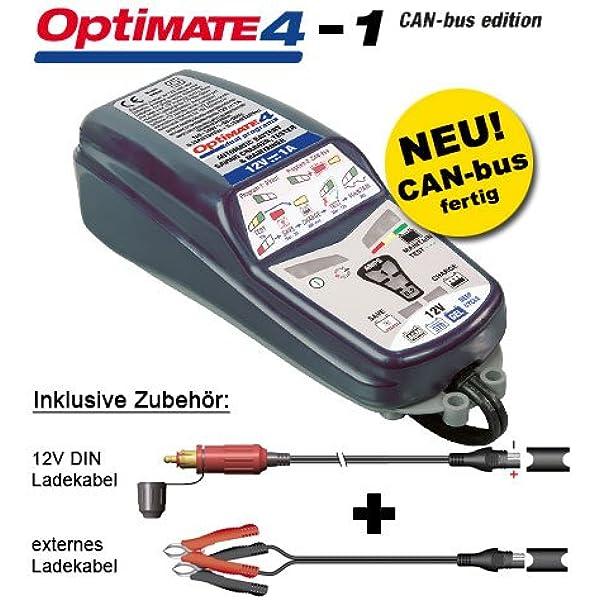 Batterieladegerät Tecmate Optimate 4 Can Bus Für Bmw Erweiterte 12v Akkupflege Mit Sae Steckern Auto
