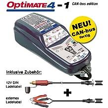 Cargador de batería TecMATE Optimate 4Can-bus para BMW, Advanced Batería de 12V, con conectores SAE