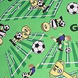 Hans-Textil-Shop Stoff Meterware Fußball Baumwolle