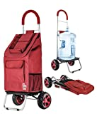 dbest products Trolley Dolly faltbar Warenkorb strapazierfähig rot