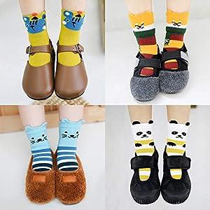 RUOHAN Kinder Socken 5 Paar Kindersocken Baumwollkindersocken Herbst Und Winter Männer Und Frauen Baby Sportsocken Baumwollsocken