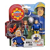 Simba Toys Derek & Steele | Sam El Bombero | Conjunto de Figuras | Fireman Sam