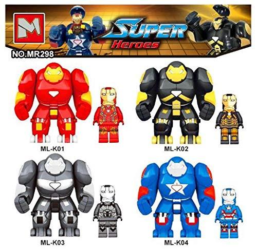 SuperHeroes Lote 4 Figuras DC Marvel Super Heroes