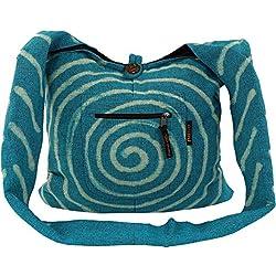 Sadhu Bag 'espiral'-Azul/sadhubag, Hippie Bolsa