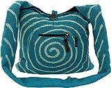 Guru-Shop Sadhu Bolsa de Espiral - Azul, Unisex - Adultos, Algodón, Tamaño:One Size, 40x40x10 cm, Sadhu Bolsa, la Bolsa Hippie