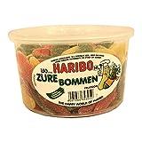 Haribo Zure Bommen 150 Stck. Runddose IMPORT (Fruchtgummi Gurken sauer)