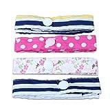 Edealing Poussette Anti perdu sangles accessoires Toy Laisse-Saver bébé bretelles joli jouet avec le bouton Fermoirs Pack Of 4