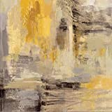 zgmtj Carteles e Impresiones Arte de la Pared Pintura de la Lona,   Moderno Abstracto Dorado Amarillo Carteles Arte de la Pared Cuadros para la Sala Decoración para el hogar