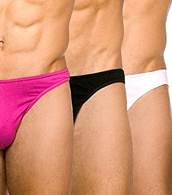 Kiniki Gentsmart Stretch Cotton Brief Pack Mulberry, Black & White