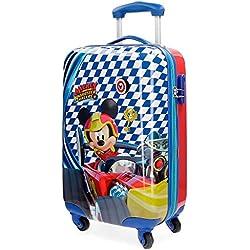 Disney Mickey Race Equipaje Infantil, 55 cm, 33 Litros, Multicolor