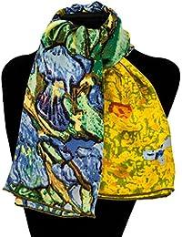 Silk Fedora Pañuelo de Seda 90x90cm. Van Gogh