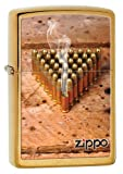 #9: Zippo  Brushed Brass Lighter, 28674