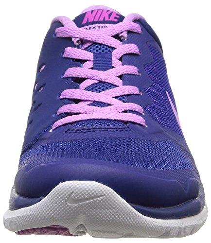 Nike Wmns Flex 2015 Rn - Sneaker pour femme multicolore (Dp Ryl Bl/Fchs Glw-Fchs Flsh-W)