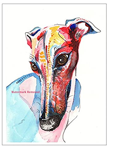 Fridge Magnet Greyhound Whippet Lurcher Italian Dog Gift - Christmas
