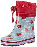 Beck Erdbeere - Stivali di Gomma Bambina,Blu (Hellblau), 20 EU