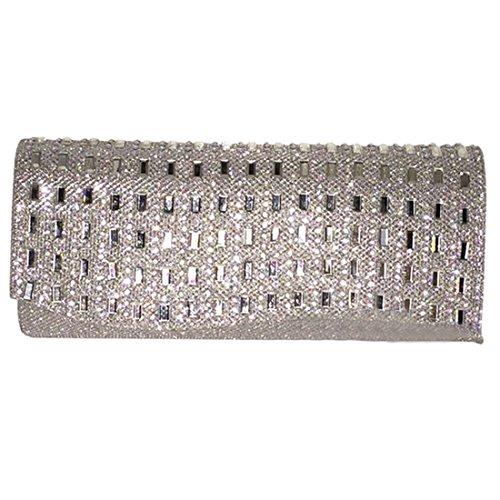 HT Ladies Party Bag, Poschette giorno donna Silver