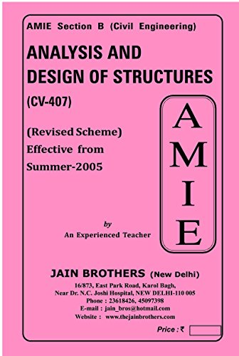 AMIE Analysis and Design of Structures (CV-407) Solved Paper