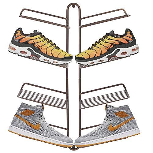 MDesign Organizador de zapatos - Moderno zapatero de pared para cuatro pares de zapatillas, calzado...